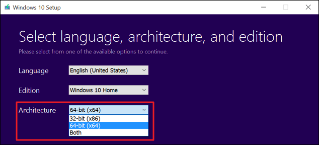 How to switch from 32 bit windows 10 to 64 bit windows 10 for Window 64 or 32