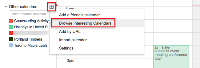 how to get google calendars to show in ical
