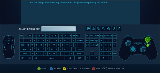this includes any other button on the steam controller any default keyboard or mouse button - fortnite controller or keyboard and mouse