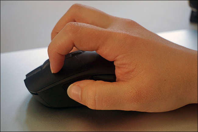 d76004b7089 Claw grip: a mix between the palm and tip grip styles. Your palm rests only  on the back edge of the mouse, with your finger and thumb tips angled in  towards ...