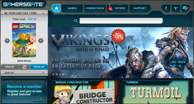 gamers gate game store web screen shot