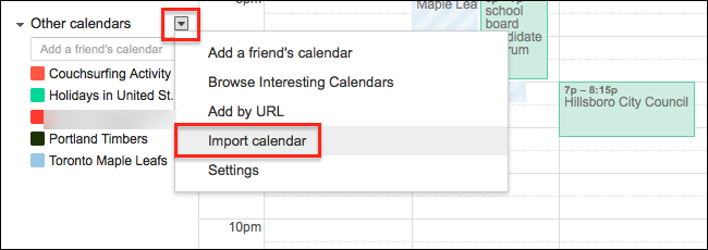 How to Import an iCal or ICS File to Google Calendar
