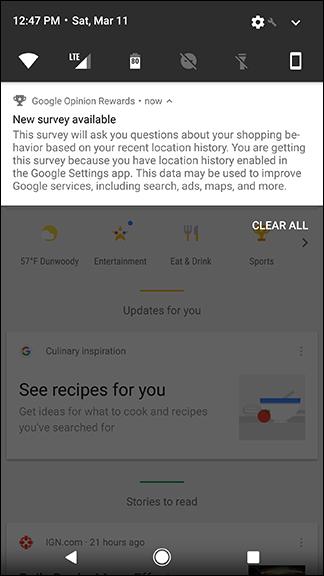 google opinion rewards same questions