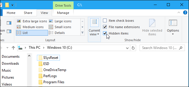 Admirable How To Show Hidden Files And Folders In Windows 7 8 Or 10 Home Interior And Landscaping Eliaenasavecom