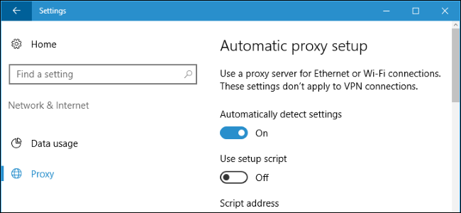 automatically detect settings registry windows 10