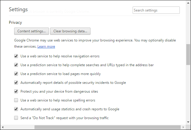 To Find More Privacy Related Options Click The Show Advanced Settings Link At Bottom Of Chromes Page Under Section