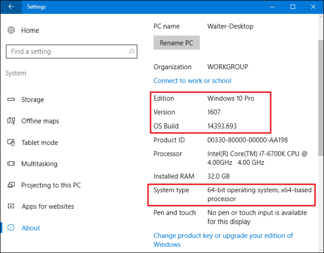 how to find out which build and version of windows 10 you have