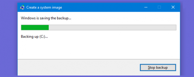 How to Create a System Image Backup in Windows 7, 8, or 10