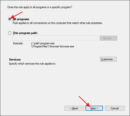 How to Allow Pings (ICMP Echo Requests) Through Your Windows