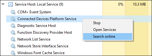 service host local system task manager