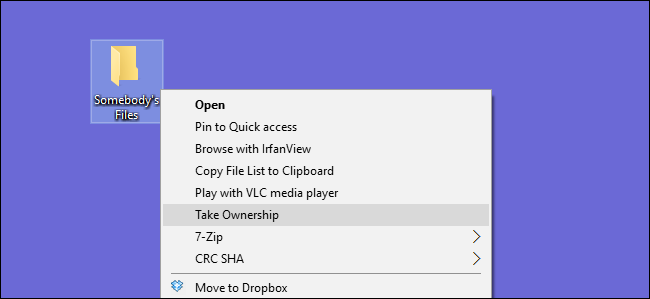 """How to Add """"Take Ownership"""" to the Right-Click Menu in Windows Explorer"""