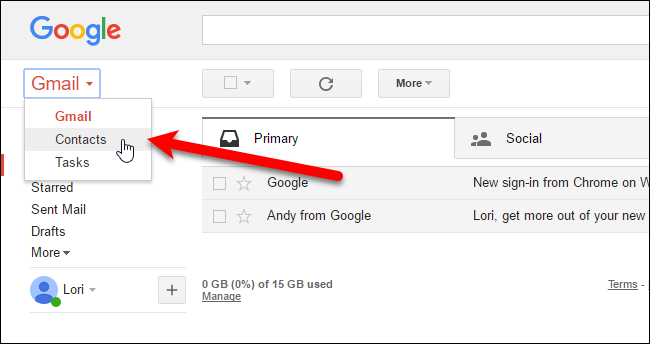 Image result for gmail contacts