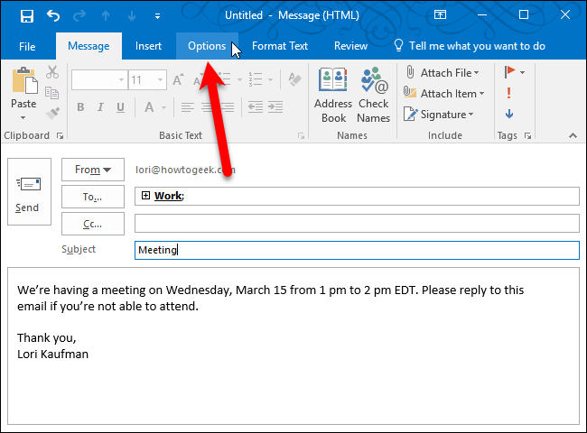 Force Outlook New Address Book