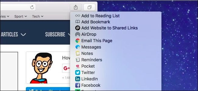 How to Customize the Share Menu on macOS