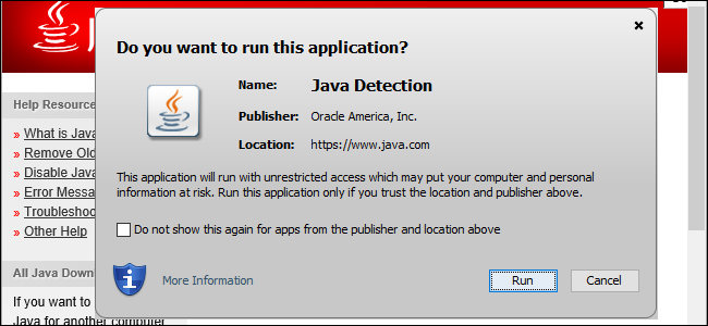 Java wont load in browser | Java is not working in Internet
