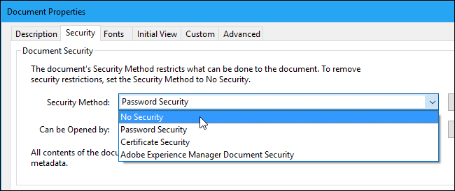 remove security from pdf file without password