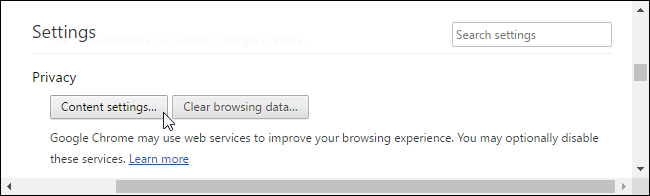 how to make set chrome privacy settings