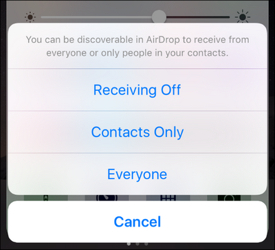 how to turn on airdrop iphone 8