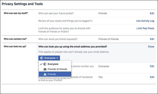 How to Make It Harder for People to Find Your Facebook Account