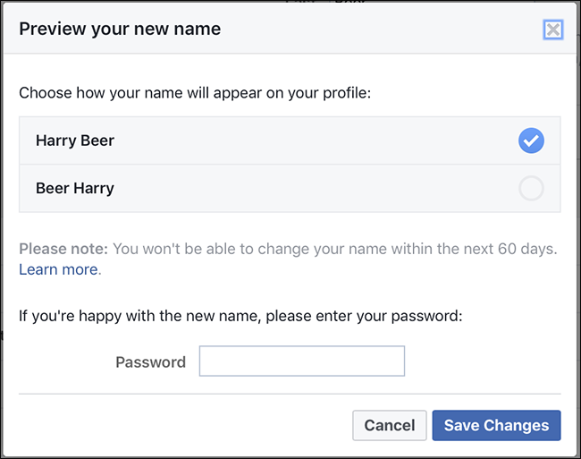 How to change fb name before 60 days in hindi