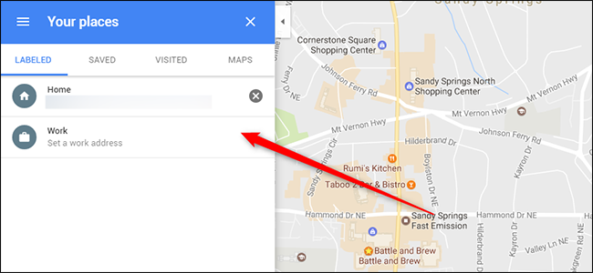 How to Make Sure Google Has Your Correct Work and Home Address Clear Google Maps Search on