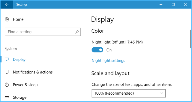 How to Enable Night Light on Windows 10