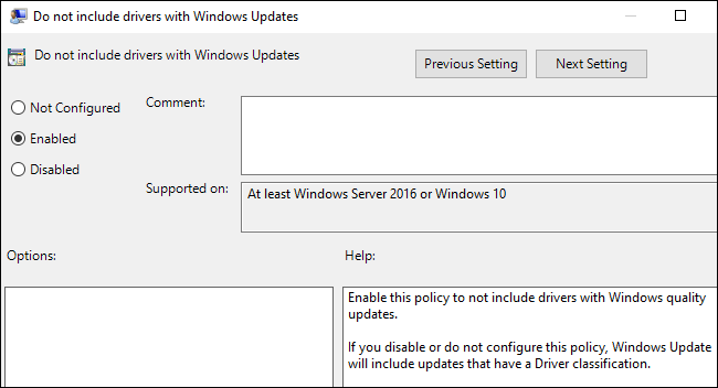 How do i stop windows 10 updating drivers