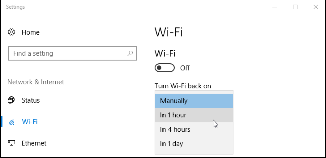 How to Automatically Turn Your Wi-Fi Back On in Windows 10