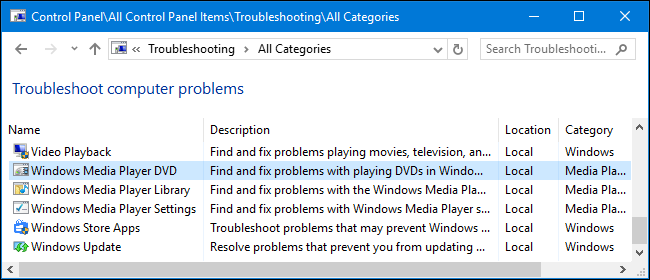 windows store troubleshooter