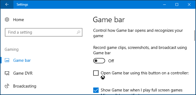 How to Disable Windows 10's Game DVR (and Game Bar)