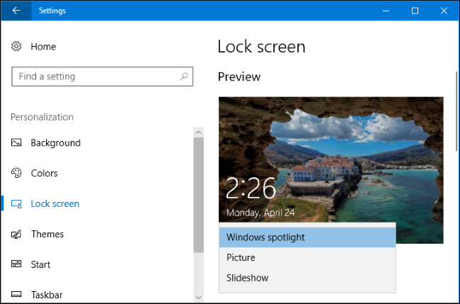 how to change login wallpaper windows 10