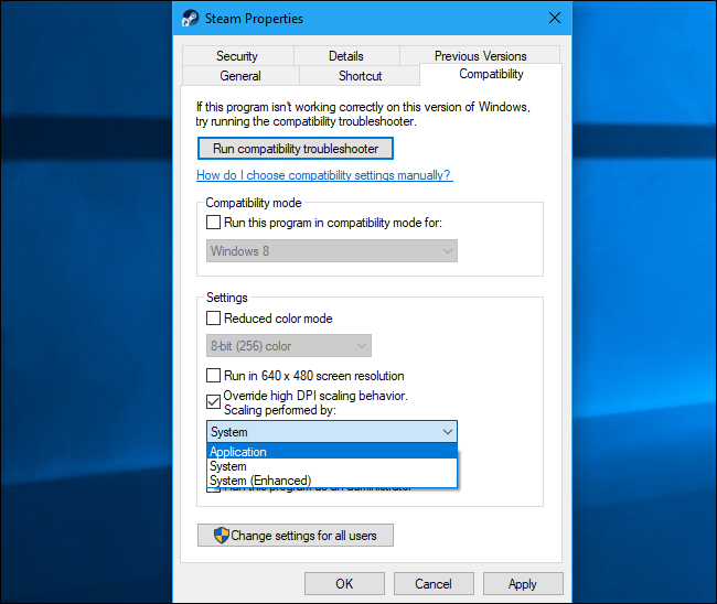 How to Make Windows Work Better on High-DPI Displays and Fix Blurry