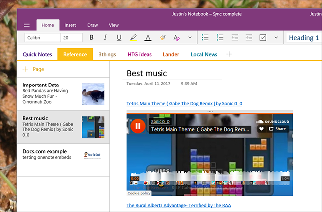 How to Embed Web Videos, Music, Documents, and More in OneNote