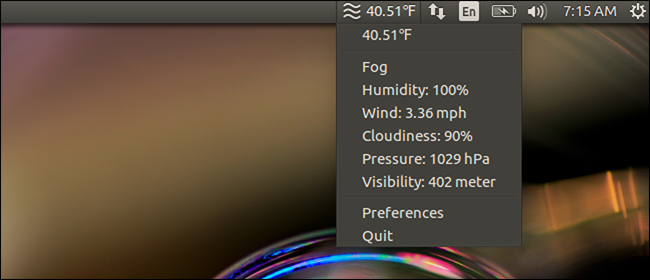 How to Add Weather Information to the Top Panel in Ubuntu