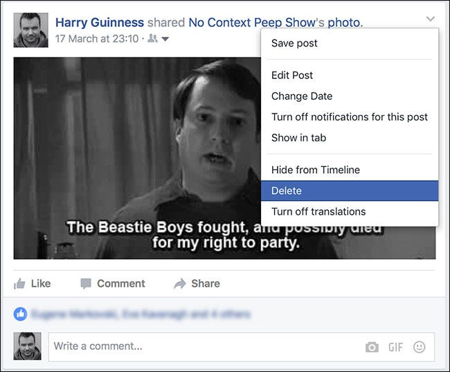 how to delete multiple posts on facebook timeline at once