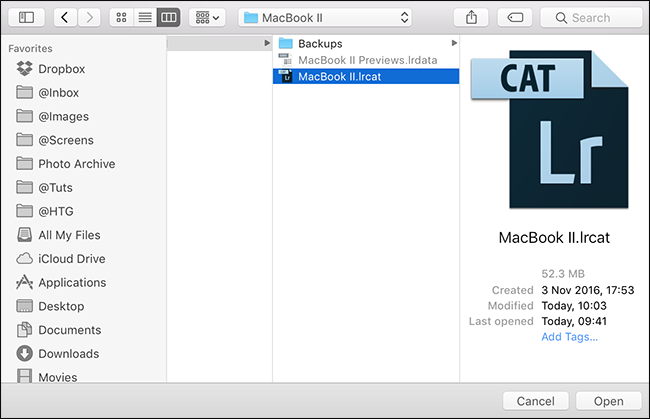 how to start a new lightroom catalog