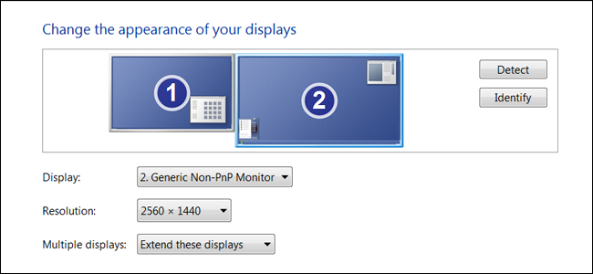 Here You Can See The Relative Position Of Monitors In Virtual Space Desktop My Setup Uses Two With One Being Slightly Higher