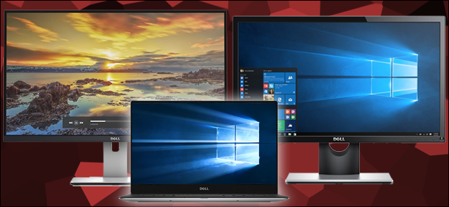 how to set different backgrounds on multiple monitors windows 10