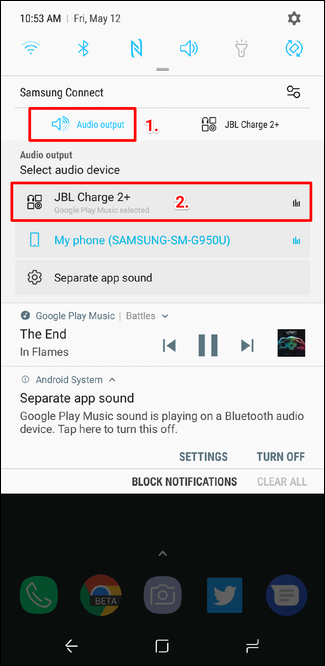 How to Play Bluetooth Audio from Only a Specific App on the Galaxy S8