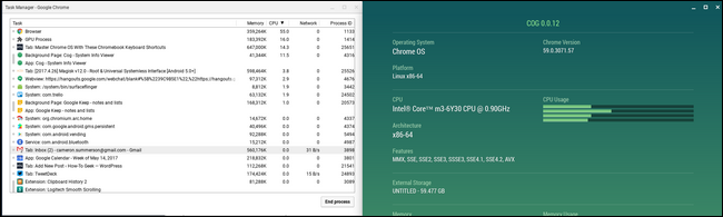 How to Monitor Your Chromebook's System Resources with Cog