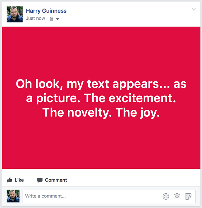 how to make the font larger on facebook