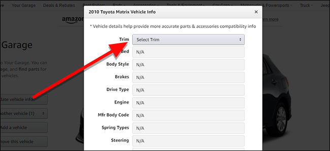 How to Use Amazon Garage to Find the Right Parts For Your Car