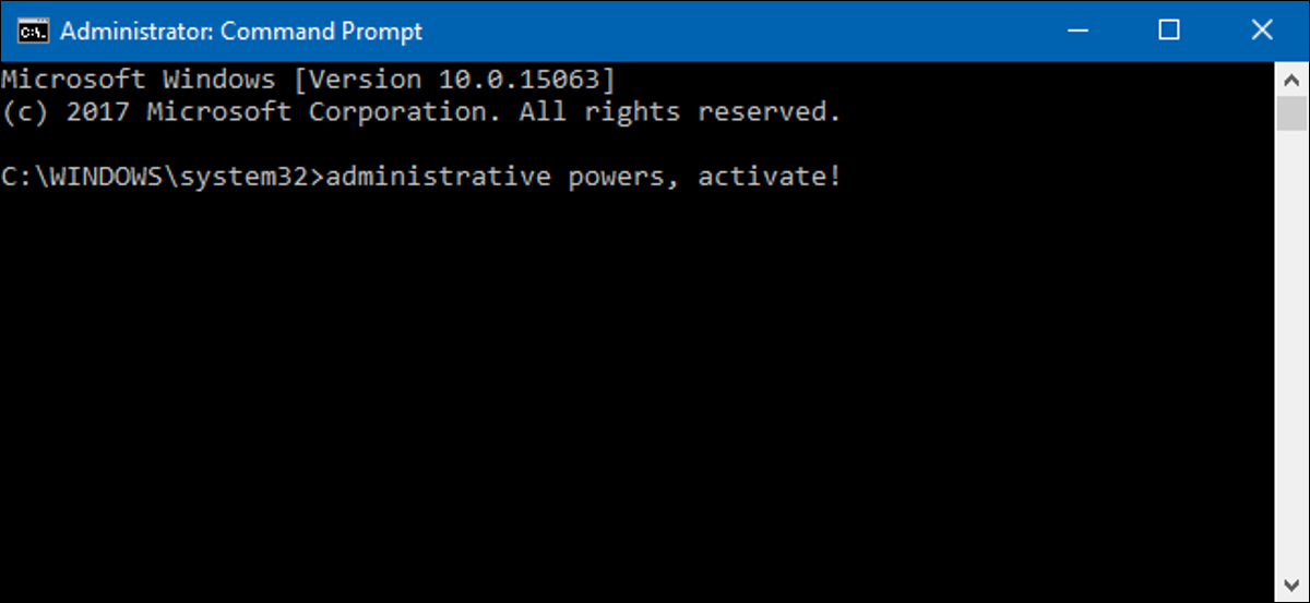 An Administrator Command Prompt window on Windows 10.