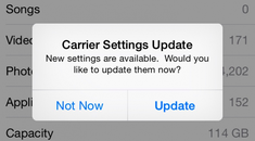 "What is that ""Carrier Settings Update"" Popup on Your iPhone?"