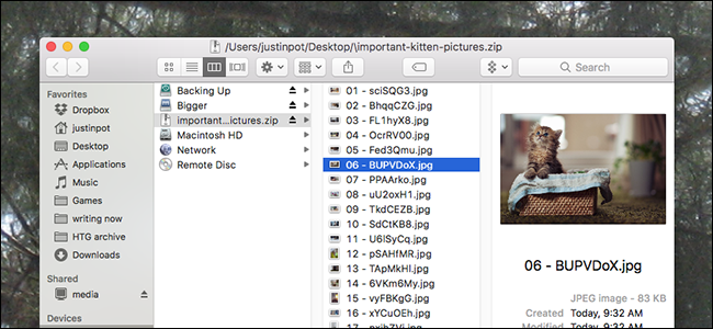 How to Open and Browse ZIP Files on macOS Without