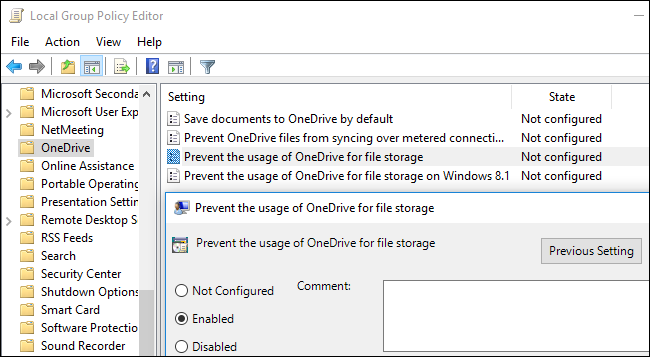 How to disable users personal OneDrive in Windows 10 2