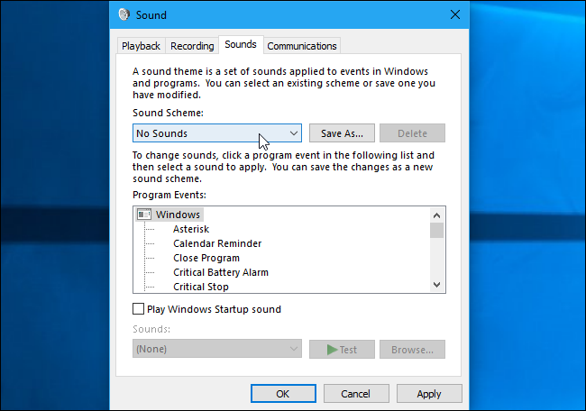 How to Turn f or Customize Sound Effects in Windows