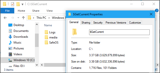 What Are the $GetCurrent and $SysReset Folders, and Can You Delete Them?