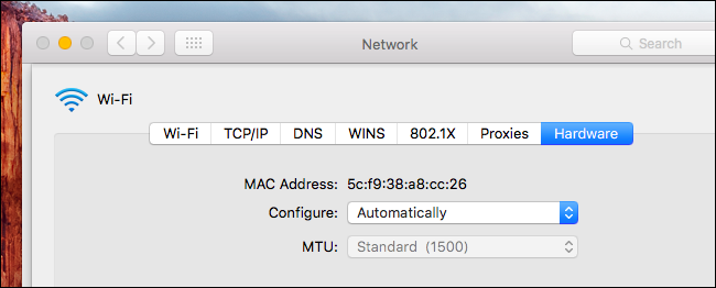 Airtame 1 MAC addresses