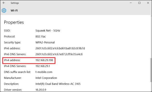 how to detect ip address of wifi router